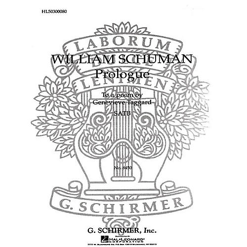 G. Schirmer Prologue to a Poem SATB composed by William Schuman-thumbnail