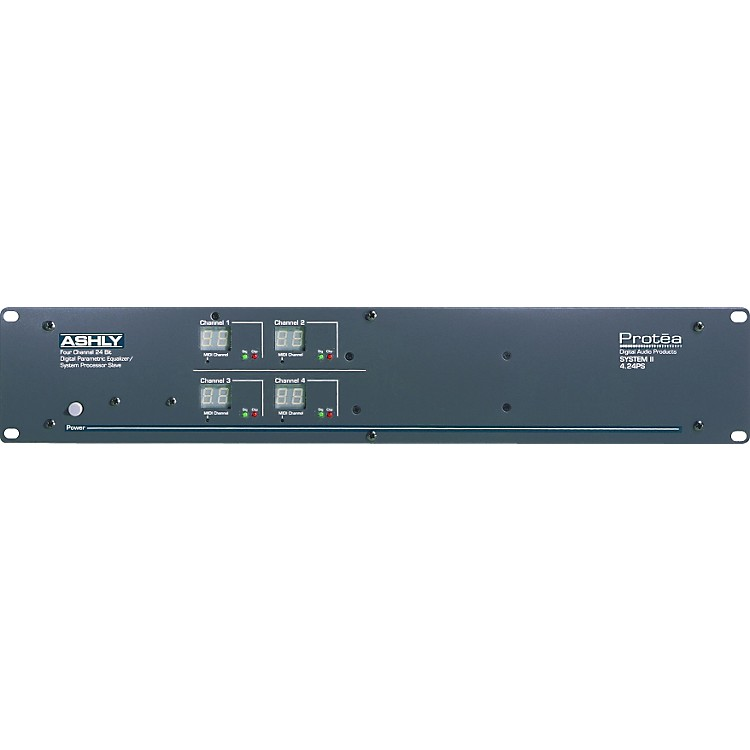Ashly AudioProtea 4.24PS 4-Channel Parametric EQ Sys Processor