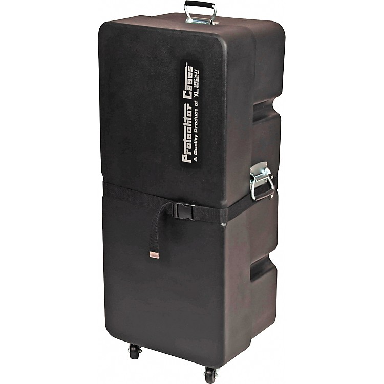Protechtor Cases Protechtor Classic Upright Accessory Case with Wheels Black