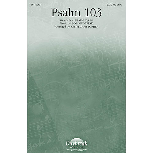 Daybreak Music Psalm 103 SATB arranged by Keith Christopher-thumbnail