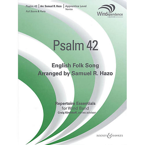 Boosey and Hawkes Psalm 42 (Score Only) Concert Band Level 2-3 Arranged by Samuel R. Hazo-thumbnail