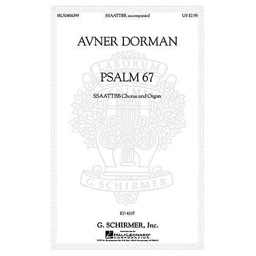 G. Schirmer Psalm 67 SATB Divisi composed by Avner Dorman-thumbnail