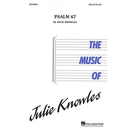 Hal Leonard Psalm 67 (SSA) SSA composed by Julie Knowles-thumbnail