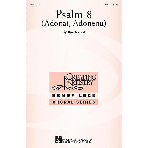 Hal Leonard Psalm 8 (Adonai, Adonenu) SSA composed by Dan Forrest