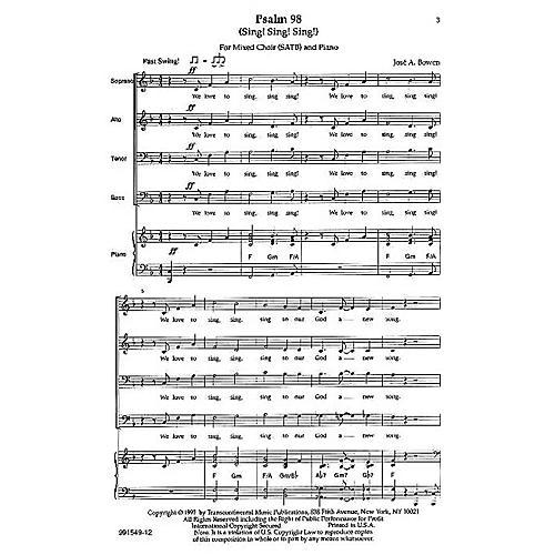 Transcontinental Music Psalm 98 (Sing! Sing! Sing!) SATB composed by Jose Bowen-thumbnail