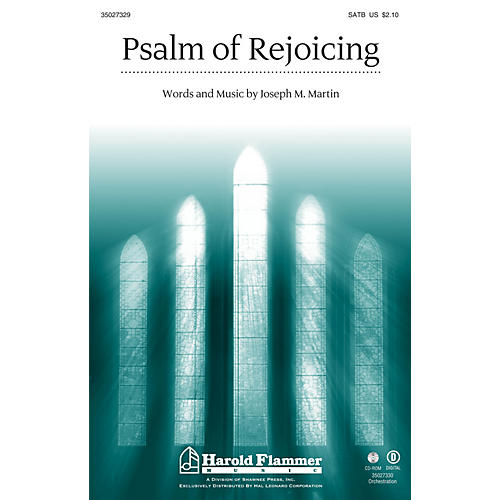 Shawnee Press Psalm of Rejoicing SATB composed by Joseph M. Martin-thumbnail