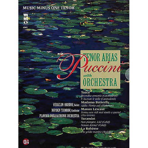 Music Minus One Puccini - Arias for Tenor and Orchestra Volume 1 Music Minus One Softcover with CD by Giacomo Puccini-thumbnail
