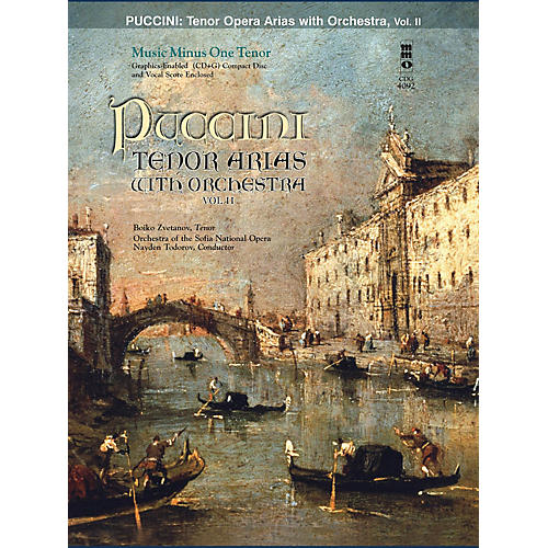 Music Minus One Puccini Arias for Tenor and Orchestra - Vol. II Music Minus One Softcover with CD by Giacomo Puccini-thumbnail