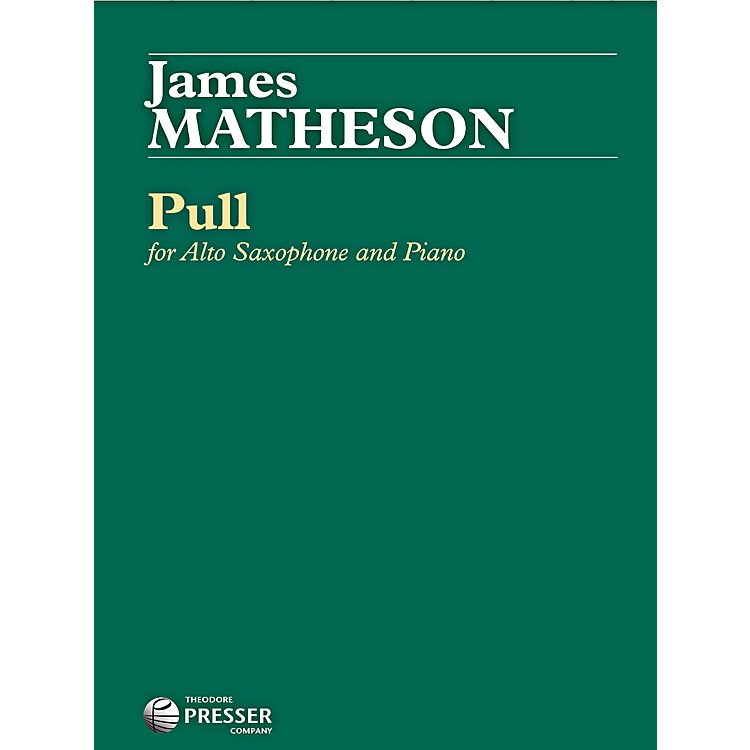 Carl FischerPull for Alto Saxophone and Piano (Book)