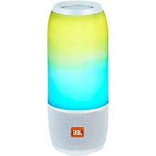 JBL Pulse 3 Portable Speaker with Bluetooth, Built-in Battery, Mic and Built-in Light Show White