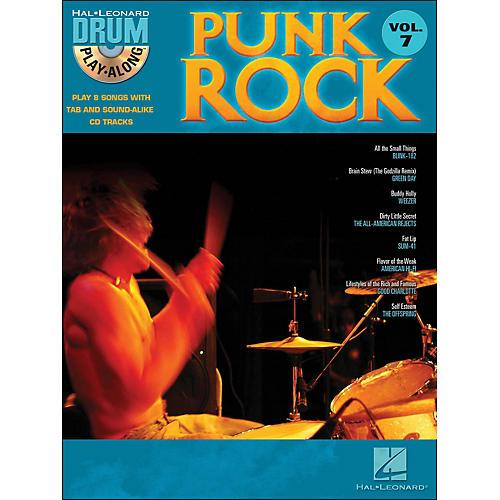 Hal Leonard Punk Rock Drum Play-Along Volume 7 Book/CD