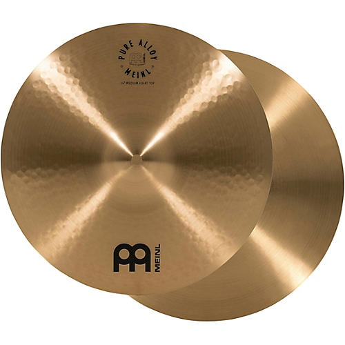 Meinl Pure Alloy Traditional Medium Hi-Hat Cymbal Pair-thumbnail