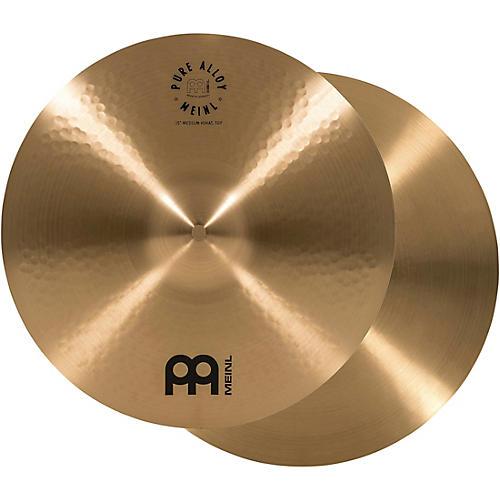 Meinl Pure Alloy Traditional Medium Hi-Hat Cymbal Pair-thumbnail