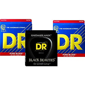dr strings pure beauties pure blues electric guitar strings 3 pack musician 39 s friend. Black Bedroom Furniture Sets. Home Design Ideas