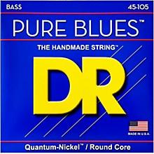DR Strings Pure Blues Medium 4-String Bass Strings (45-105)