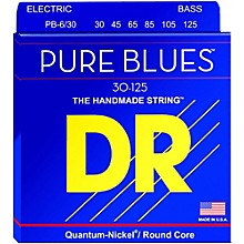 DR Strings Pure Blues Medium 6-String Bass Strings (30-125)
