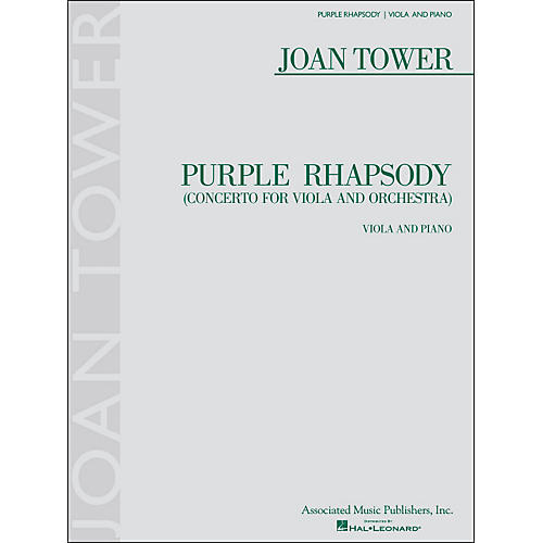 G. Schirmer Purple Rhapsody (Concerto for Viola And Orchestra) for Viola And Piano By Tower-thumbnail