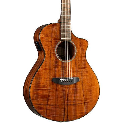 Breedlove Pursuit Exotic Concert CE Koa-Koa Acoustic-Electric Guitar-thumbnail