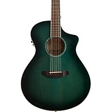 Breedlove Pursuit Series Concert CE Trans Lagoon Burst Engelmann Spruce - Maple Acoustic-Electric Guitar Transparent Blue