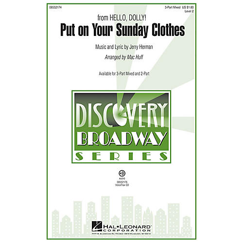Hal Leonard Put on Your Sunday Clothes (from Hello, Dolly!) Discovery Level 2 2-Part Arranged by Mac Huff-thumbnail