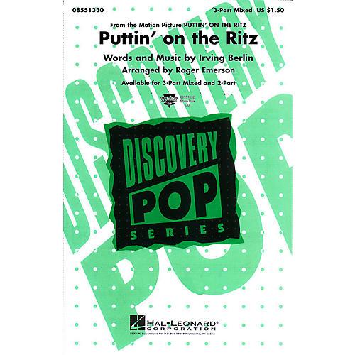Hal Leonard Puttin' On the Ritz 3-Part Mixed arranged by Roger Emerson-thumbnail