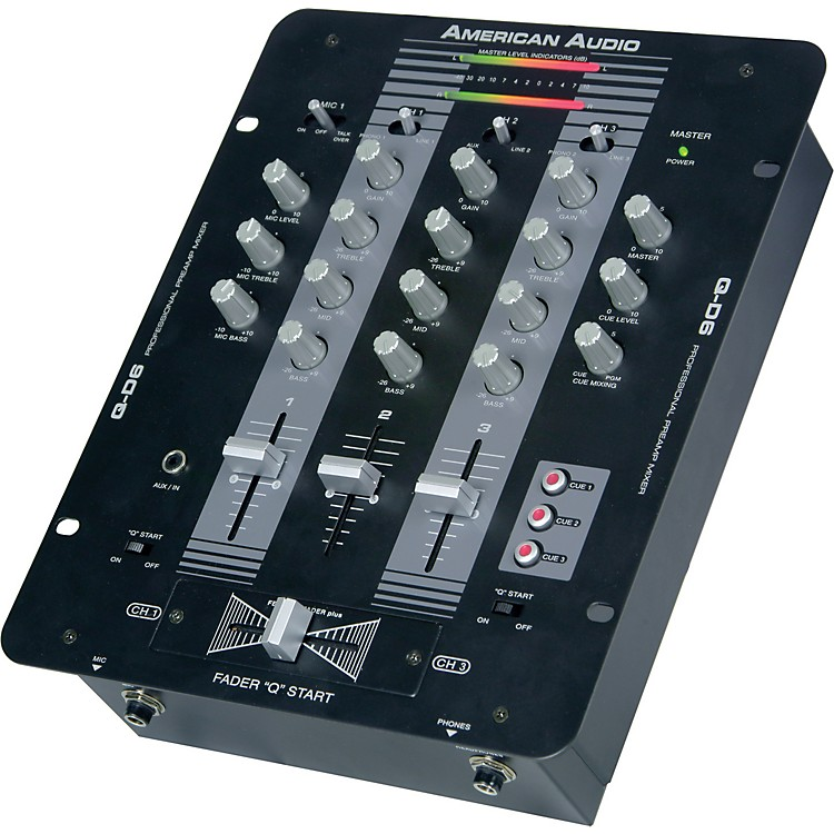 American Audio Q-D6 3-Channel DJ Mixer