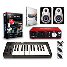 Alesis Q25 25-Key MIDI Keyboard Controller Packages Advanced Recording Package