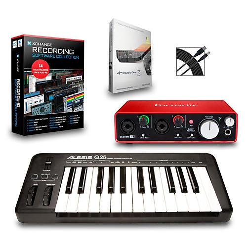 Alesis Q25 25-Key MIDI Keyboard Controller Packages-thumbnail