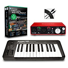 Alesis Q25 25-Key MIDI Keyboard Controller Packages Intermediate Virtual Instrument Package