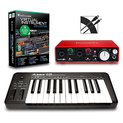 Alesis Q25 25-Key MIDI Keyboard Controller Packages  Intermediate Virtual Instrument Package