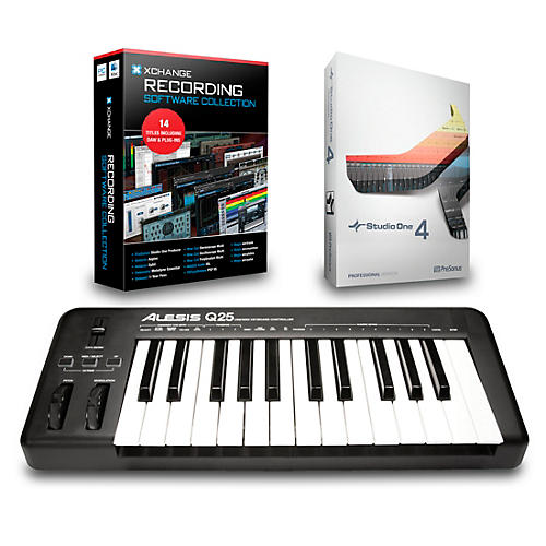 Alesis Q25 25-Key MIDI Keyboard Controller Packages-thumbnail