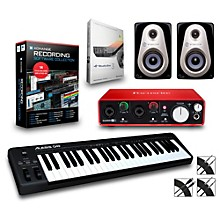Alesis Q49 49-Key MIDI Keyboard Controller Packages Advanced Recording Package