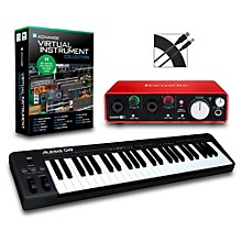 Alesis Q49 49-Key MIDI Keyboard Controller Packages Intermediate Virtual Instrument Package