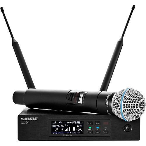Shure QLX-D Digital Wireless System with Beta 58 Microphone-thumbnail