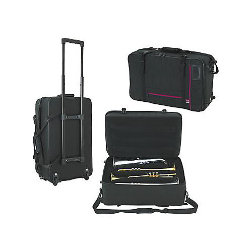 WolfPak Quad Trumpet Case with Wheels-thumbnail
