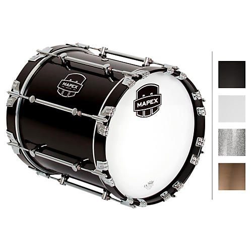 Mapex Quantum Bass Drum 14 x 14 in. Grey Steel/Gloss Chrome Hardware