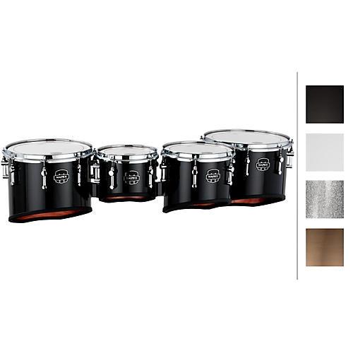 Mapex Quantum Marching Tenor Drums Quad 8, 10, 12, 13 in. Silver Diamond Dazzle