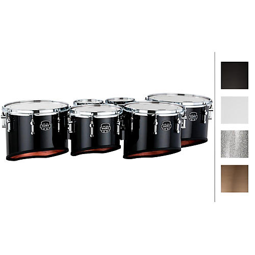 Mapex Quantum Marching Tenor Drums Sextet 6, 6, 8, 10, 12, 13 in. Silver Diamond Dazzle