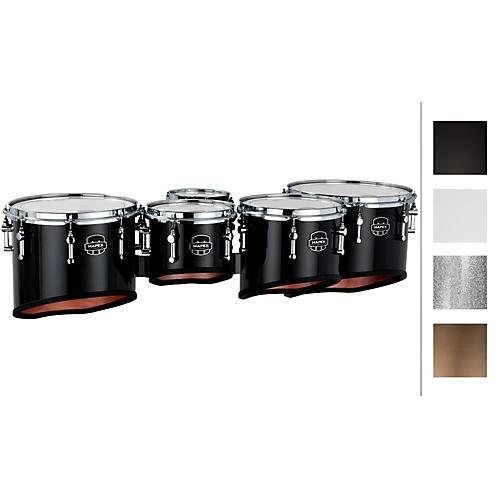 Mapex Quantum Marching Tenor Drums Sextet 6, 8, 10, 12, 13, 14 in. Silver Diamond Dazzle