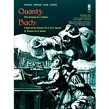 Music Minus One Quantz - Trio Sonata in C Min Bach - Gigue from Sonata No 1 in C Maj & Sonata in G Min Music Minus One BK/CD