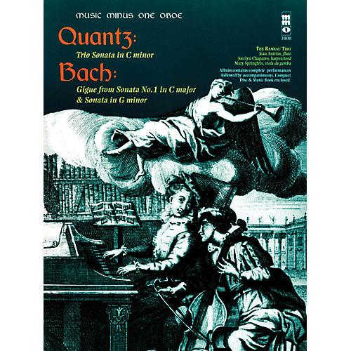 Music Minus One Quantz - Trio Sonata in C Min Bach - Gigue from Sonata No 1 in C Maj & Sonata in G Min Music Minus One BK/CD