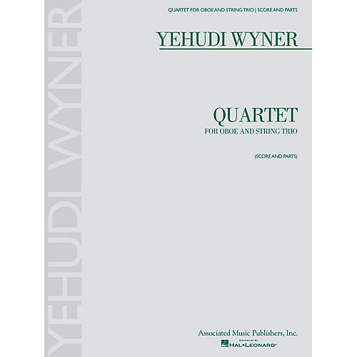 Associated Quartet (for Oboe and String Trio - Score and Parts) Ensemble Series by Yehudi Wyner-thumbnail