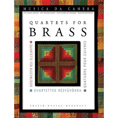 Editio Musica Budapest Quartets for Brass Musica da Camera EMB Series Book  by Various Edited by Péter Perényi-thumbnail