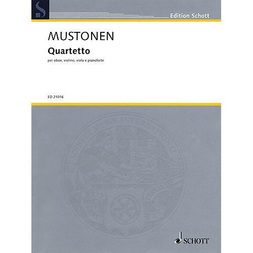 Schott Quartetto (Oboe, Violin, Viola, and Piano) String Series Book by Olli Mustonen-thumbnail
