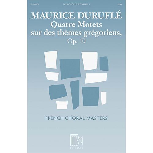 Durand Quatre Motets sur des thèmes grégoriens, Op. 10 SATB a cappella Composed by Maurice Duruflé-thumbnail