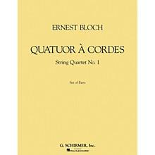 G. Schirmer Quatuor à Cordes (String Quartet) (Set of Parts) String Series Composed by Ernst Bloch