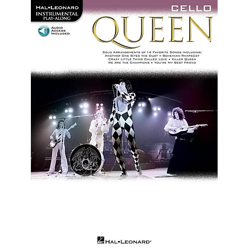 Hal Leonard Queen (Cello) Instrumental Play-Along Series Softcover Audio Online Performed by Queen-thumbnail