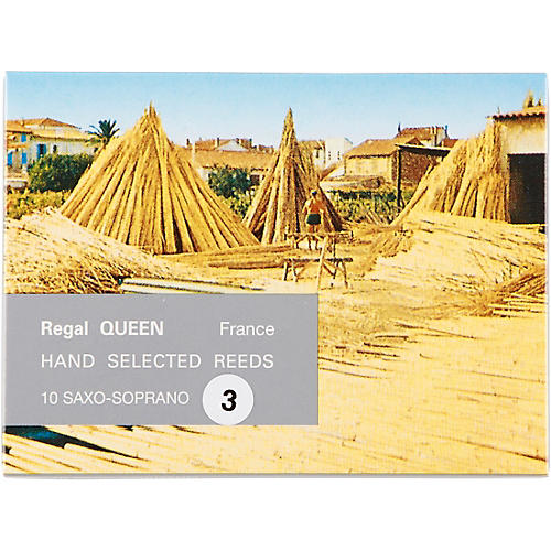 Rigotti Queen Reeds for Soprano Saxophone Strength 3.5 Box of 10