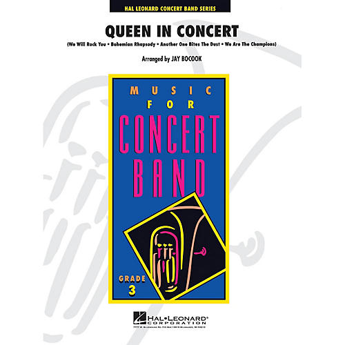 Hal Leonard Queen in Concert - Young Concert Band Series Level 3 arranged by Jay Bocook-thumbnail