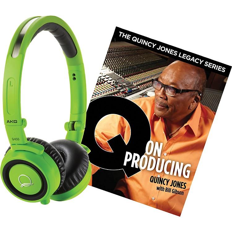 AKGQuincy Jones Q460 Headphones with Q on Producing BookGreen